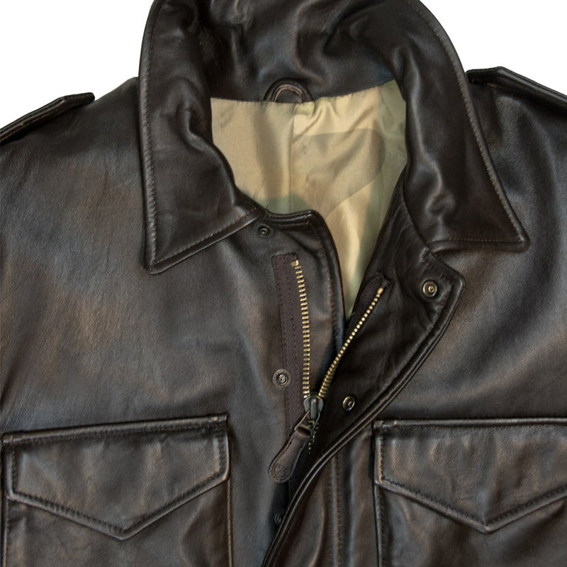 Leather M-65 Field Jacket detail