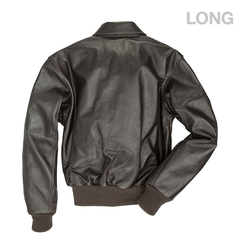 WWII Government Issue A-2 Jacket (Long)-Mahogany