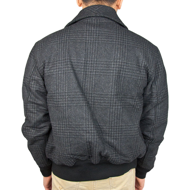 Classic Charcoal Bomber Jacket back