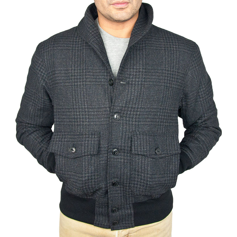 Classic Charcoal Bomber Jacket