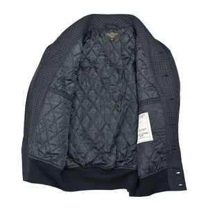 Classic Charcoal Bomber Jacket quilted lining