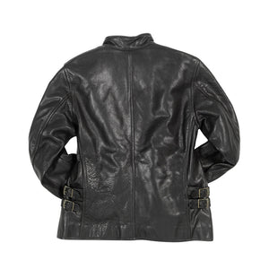 Motorcycle Cafe Racer Jacket in black