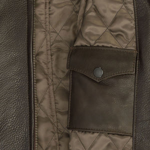 Motorcycle Cafe Racer Jacket in brown