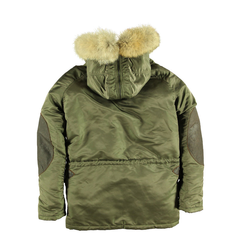 N3B Long Parka in sage