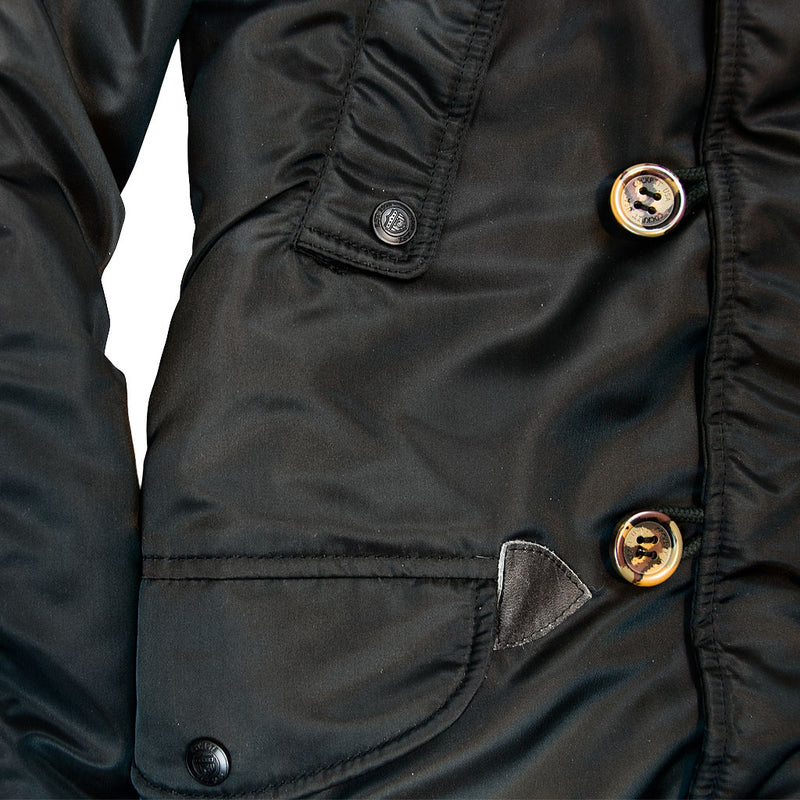 N3B Long Parka in black