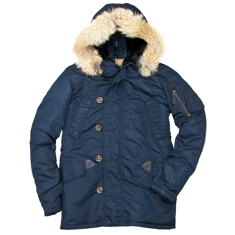 N3B Long Parka in navy