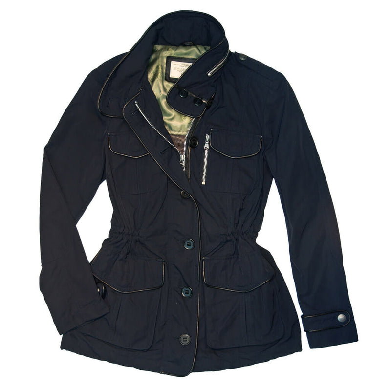 Piccadilly Lilly Field Jacket-Navy-M
