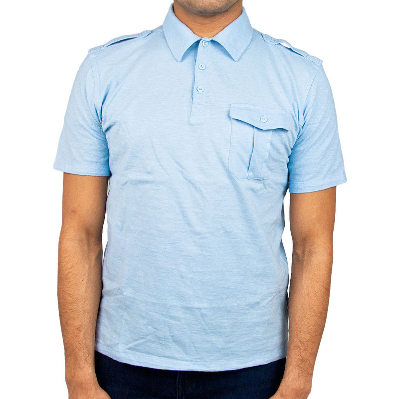 Airborne Polo Shirt in light blue