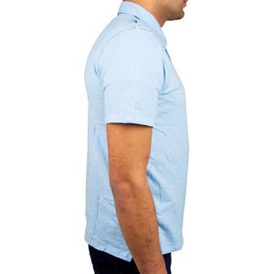 Airborne Polo Shirt side in light blue