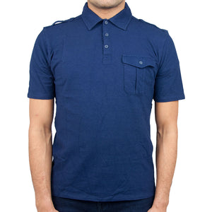 Airborne Polo Shirt in navy