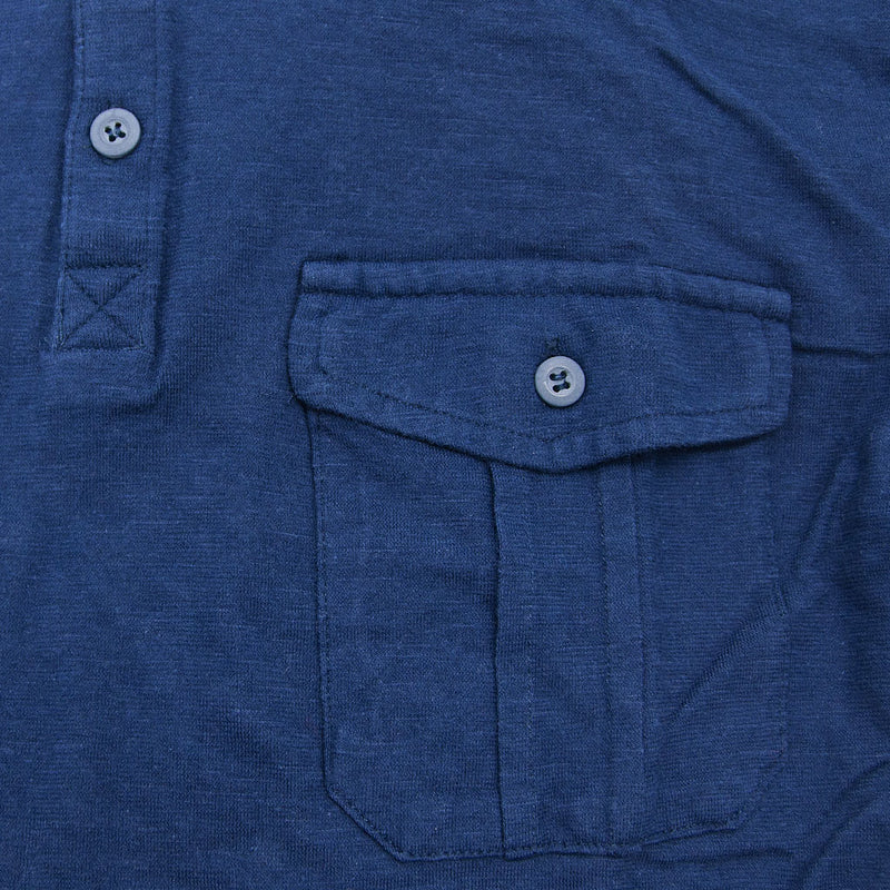 Airborne Polo Shirt chest pocket in navy
