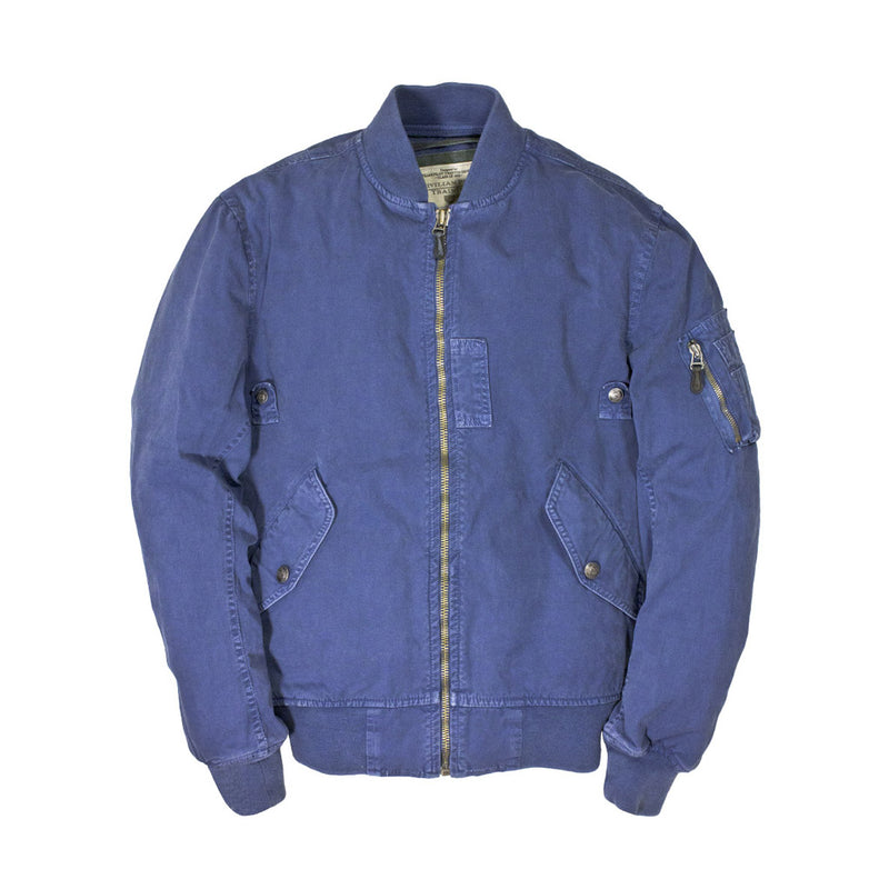 Sun Faded Cotton MA-1 Jacket in blue