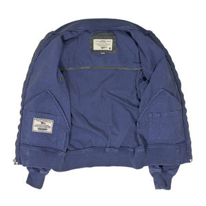 Sun Faded Cotton MA-1 Jacket in blue lining