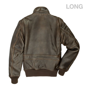 "The Classic ""Raider"" Jacket (Long)-Brown"