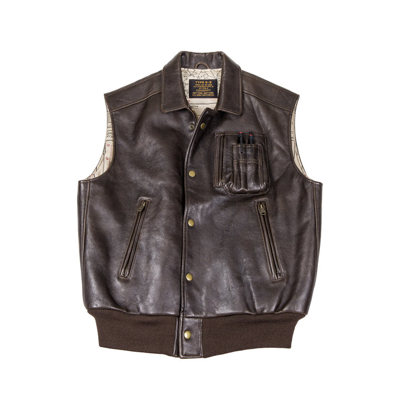 The Stearman Leather Vest (Imported)