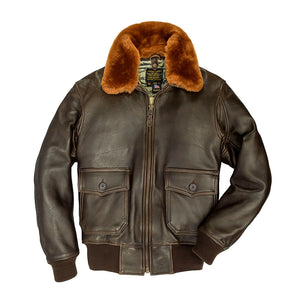 U.S. Navy Lambskin G-1 Flight Jacket in brown