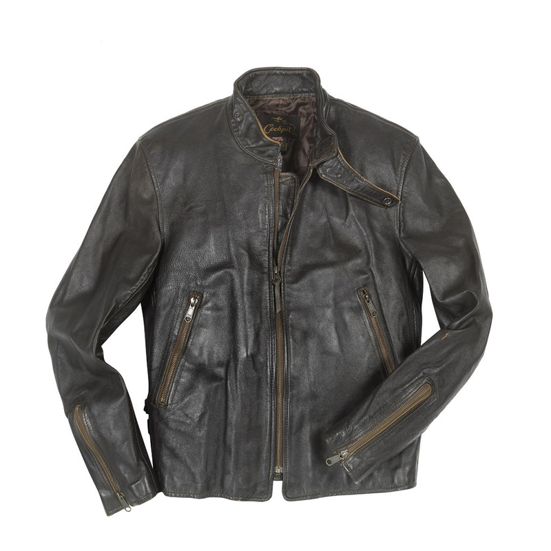 """Vintage Motorcross"" Jacket in brown"