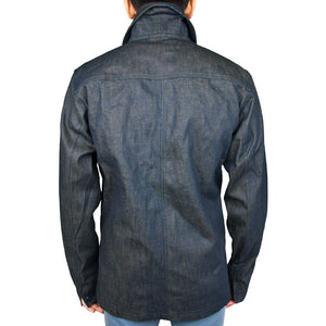 Vintage Navy Denim Work Jacket back fit