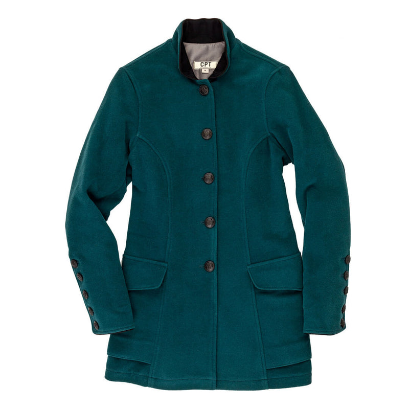 Vintage Walking Out Coat in teal
