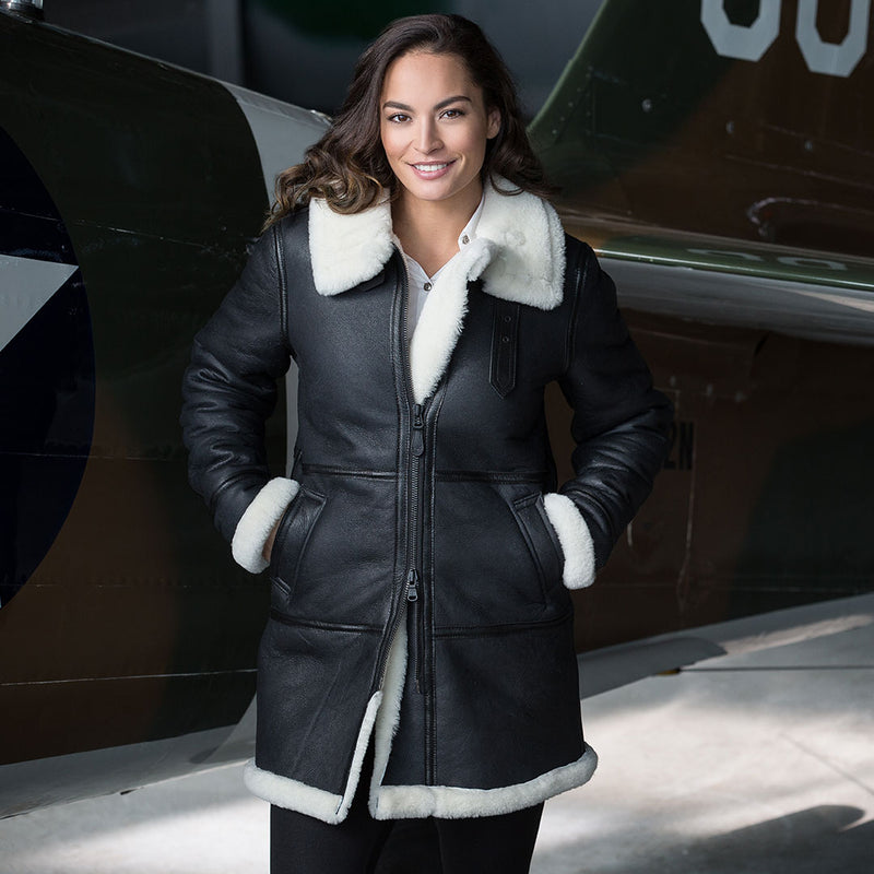 Black & White Sheepskin Coat-Cockpit USA
