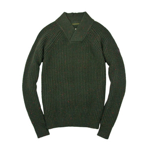 Centennial Waffle Knit Sweater in Army