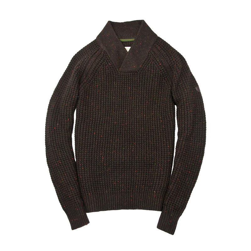 Centennial Waffle Knit Sweater in Brown