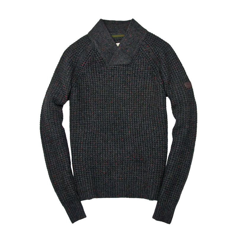Centennial Waffle Knit Sweater in Charcoal
