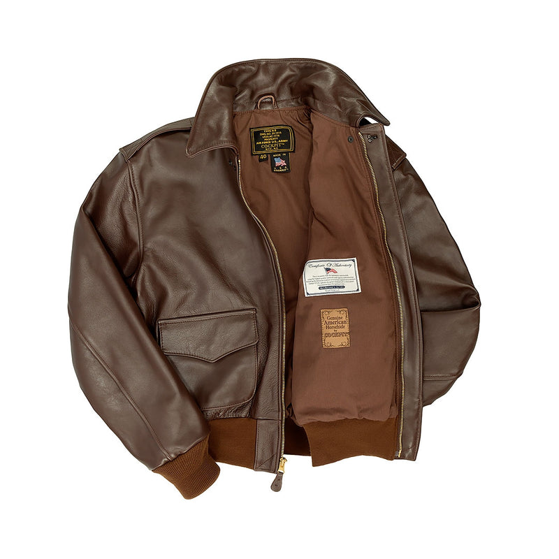 WWII Government Issue A-2 Jacket (Long)-Brown