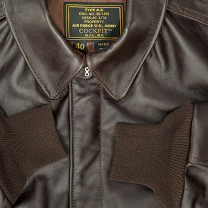 WWII Government Issue A-2 Jacket - Mahogany