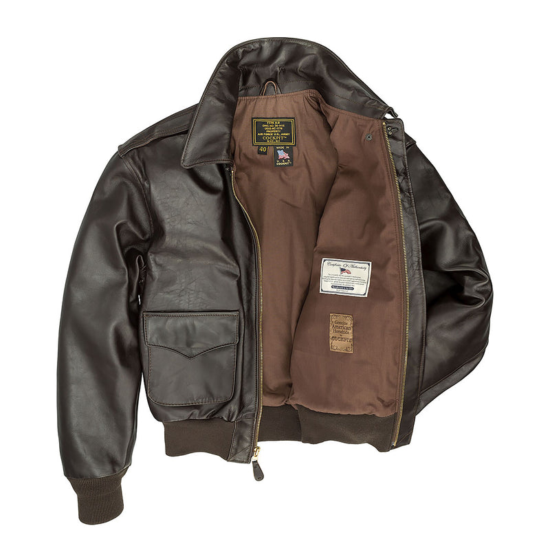 WWII Government Issue A-2 Jacket-Mahogany