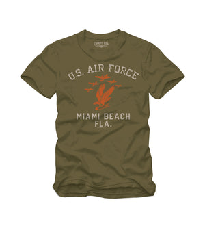USAF MIAMI BEACH T-Shirt-Military Green-
