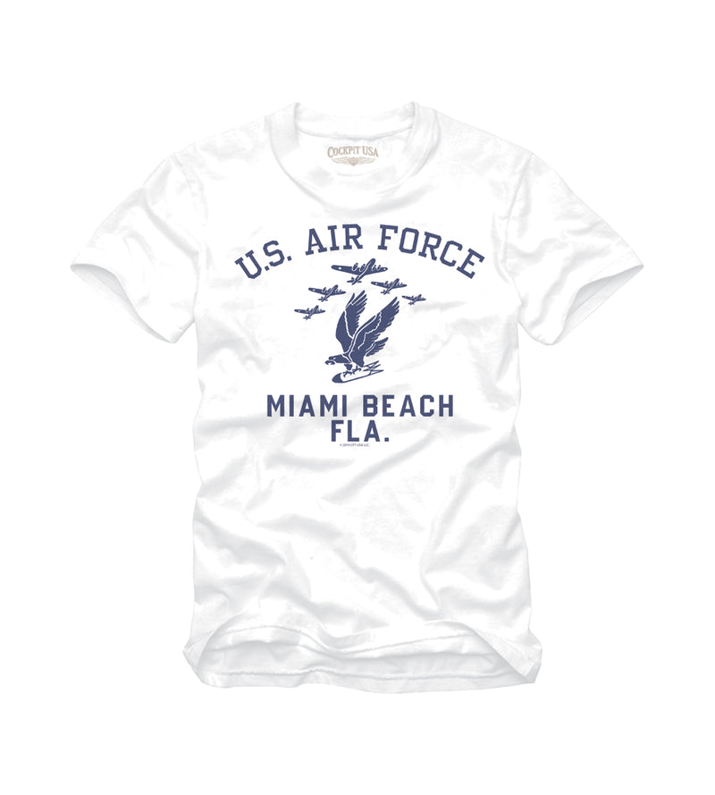 USAF MIAMI BEACH T-Shirt-White-