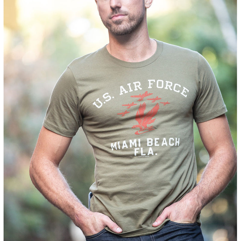 USAF MIAMI BEACH T-Shirt- Mil Green