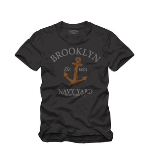 USN Brooklyn Navy Tee Black - Cockpit USA