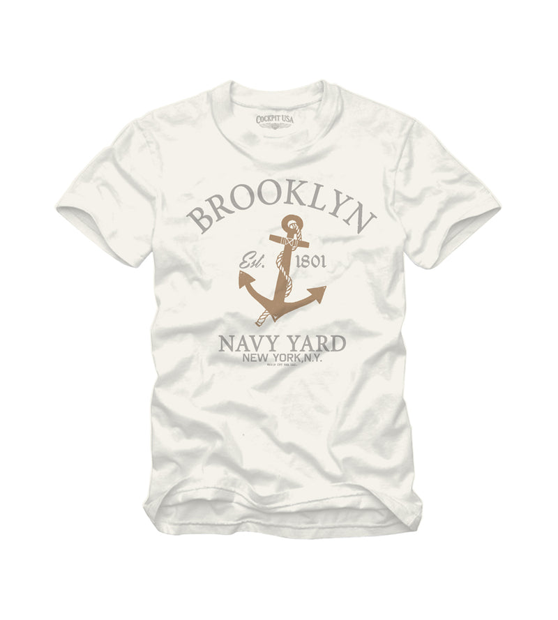 USN Brooklyn Navy Tee Natural - Cockpit USA