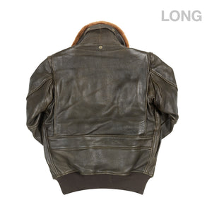 U.S. Navy Lambskin G-1 Flight Jacket (LONG) in brown