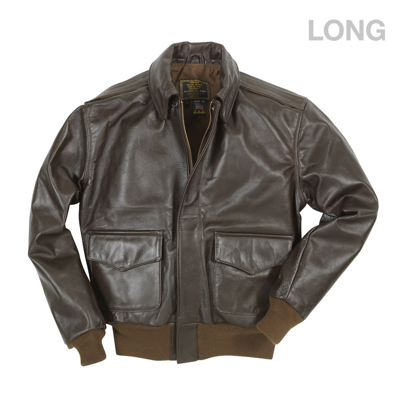WWII Government Issue A-2 Jacket (Long)-Mohogany
