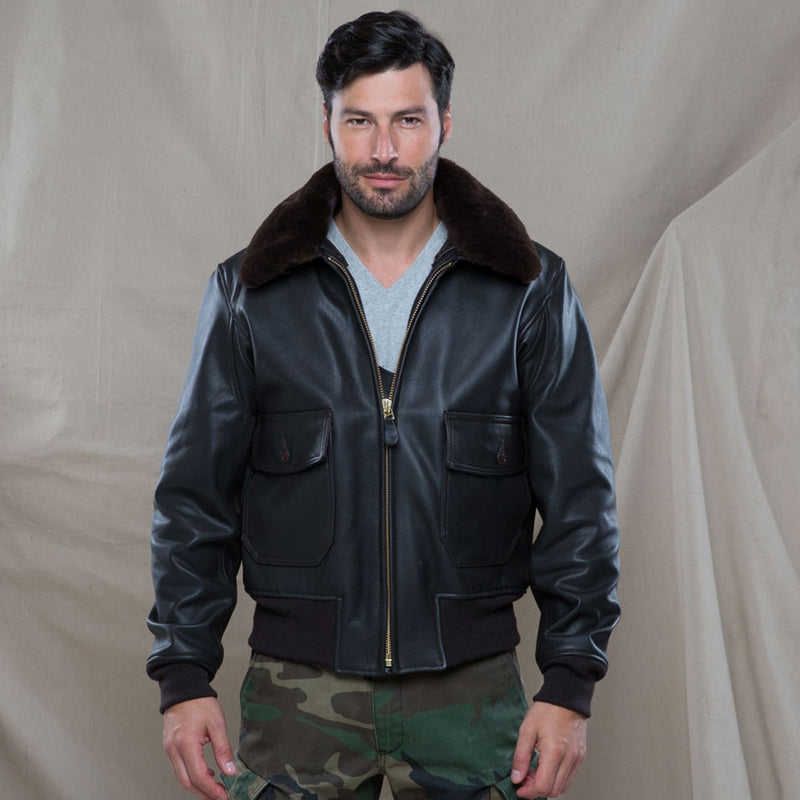 G-1 Flight Jacket with Removable Collar