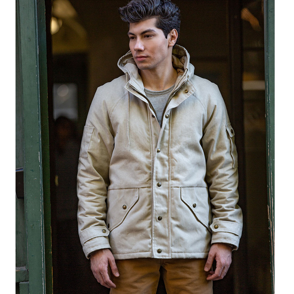 Herringbone Waxed Parka