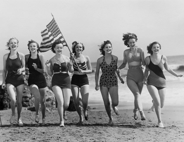 Women during WWII show their American Pride
