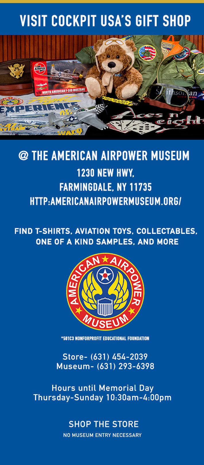Visit our Gift shop at the American Air Power Museum