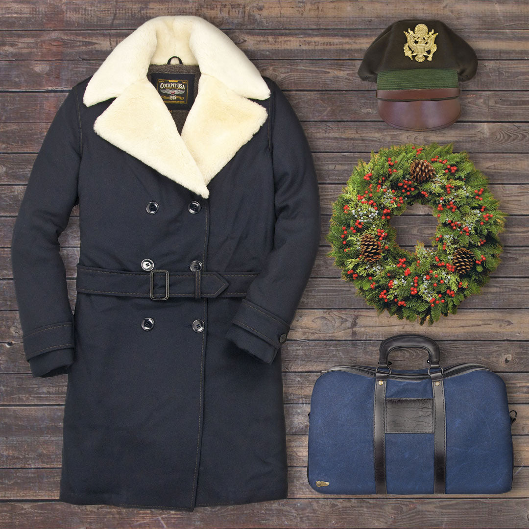 Use code: DAYONE for 20% off our Surge Coat, Navy Officers Overnight Bag, and 1941 Officers Crush Cap on Dec. 10.