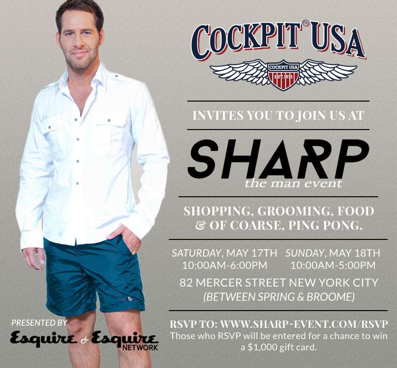 Sharp the Man Event, Saturday May 17 to Sunday May 18 in NYC