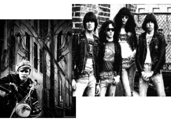 "Marlon Brandon as Johnny Strabler from the film ""The Wild One"". Second the band ""The Ramones"""