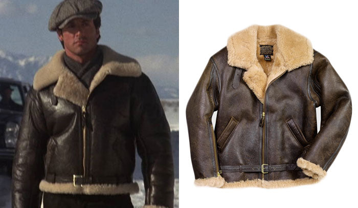 Sylvester Stallone in Rocky IV wearing a Cockpit USA R.A.F. Sheepskin