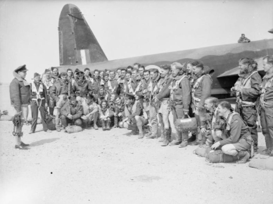 British bomber crews during a mission in 1942, North Africa
