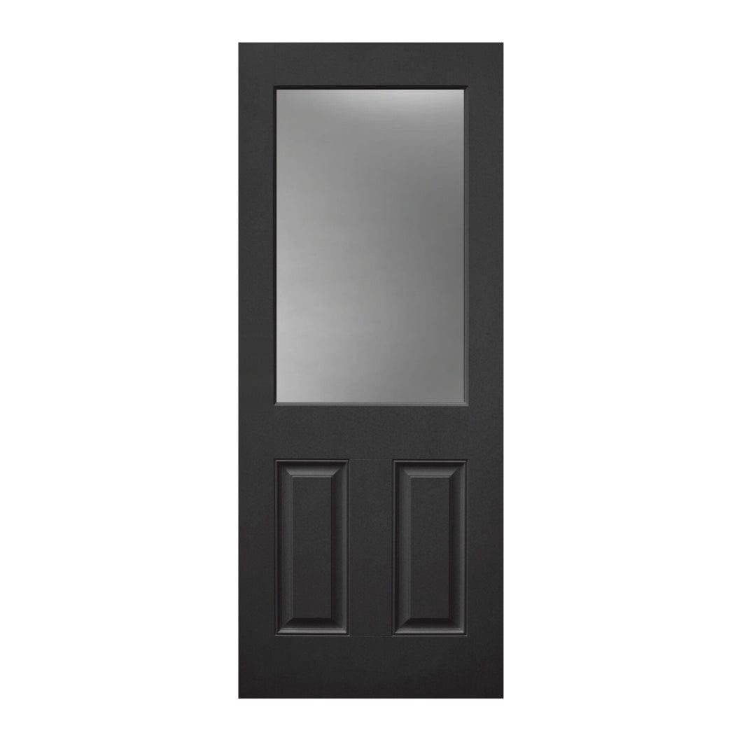 Black Cressbrook - fibreglass Composite Door (black) sizes available 820/920