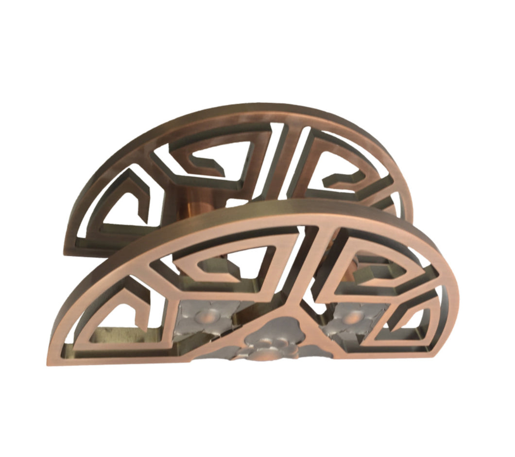 JDQ Greek 300mm Door Pull Plate – Copper Finish