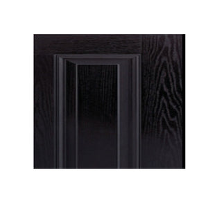 BLACK 6 Panel 820 x 2040 Fibreglass Entrance door INSTALLED