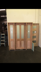 JDQ Traditional 2 lite Door & Frame package
